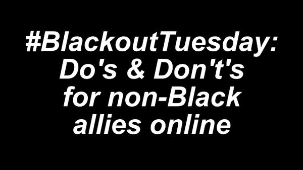 Allies Online: What You Should and Shouldn't Do for Blackout Tuesday